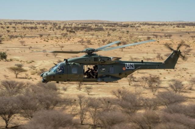 Un NH90 TTH belge déployé en 2018 au Mali (Crédit : Défense belge)