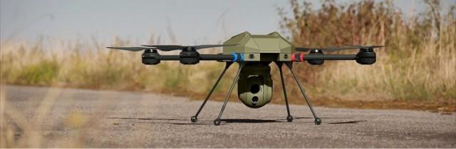 Le mini-drone Hawker Q800X retenu par la Gendarmerie royale du Canada (Crédit : Aeraccess)