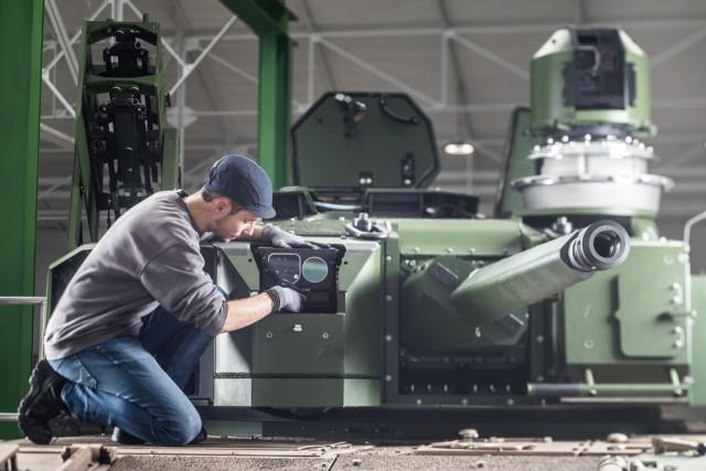 La tourelle du véhicule de combat Jaguar, au carrefour de l'innovation et de la transformation digitale (Crédits: Nexter)