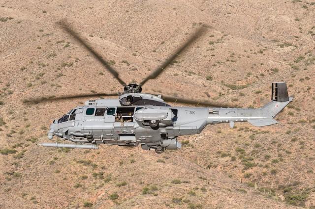 Un hélicoptère H225M Caracal de l'armée de l'Air (Crédits: A. Jeuland / armée de l'Air)